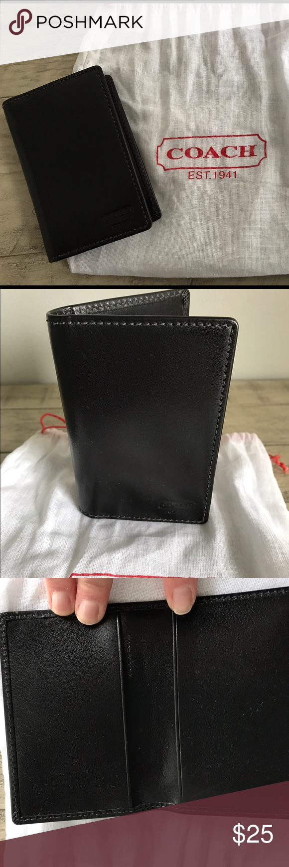 BN**Coach Blk Business Card/Credit Card Holder | Business card ...