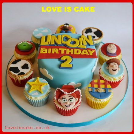 Toy Story Cake And Cupcakes With Images Toy Story Cakes