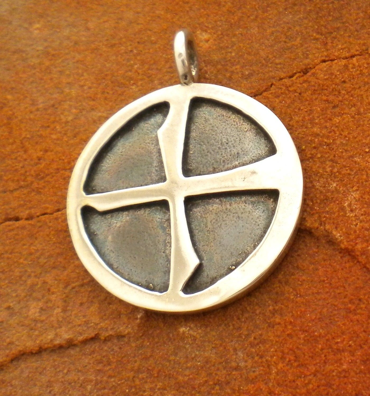 Custom made cast silver astronomical earth symbol cross pendant custom made cast silver astronomical earth symbol cross pendant buycottarizona