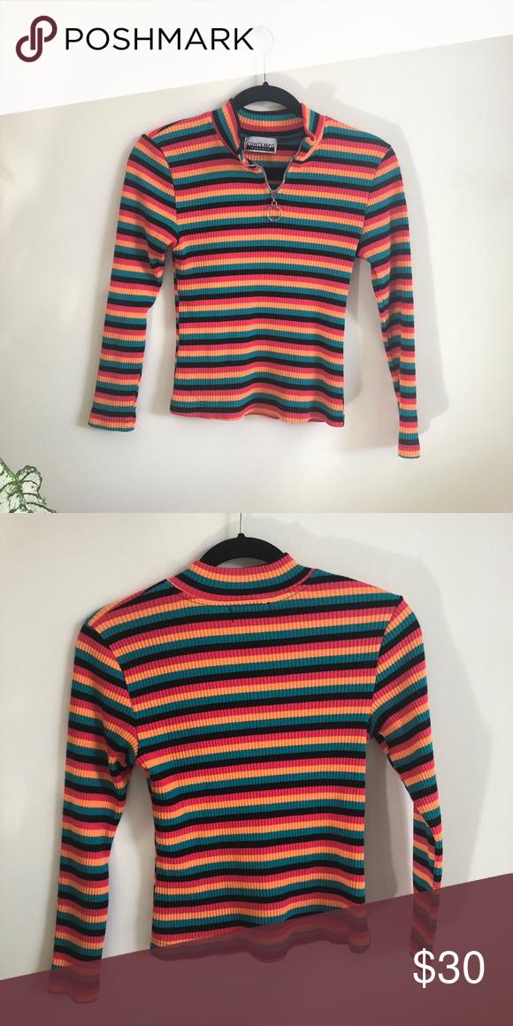 Vintage Striped Shirt Striped Shirt Ribbed Shirt Clothes Design