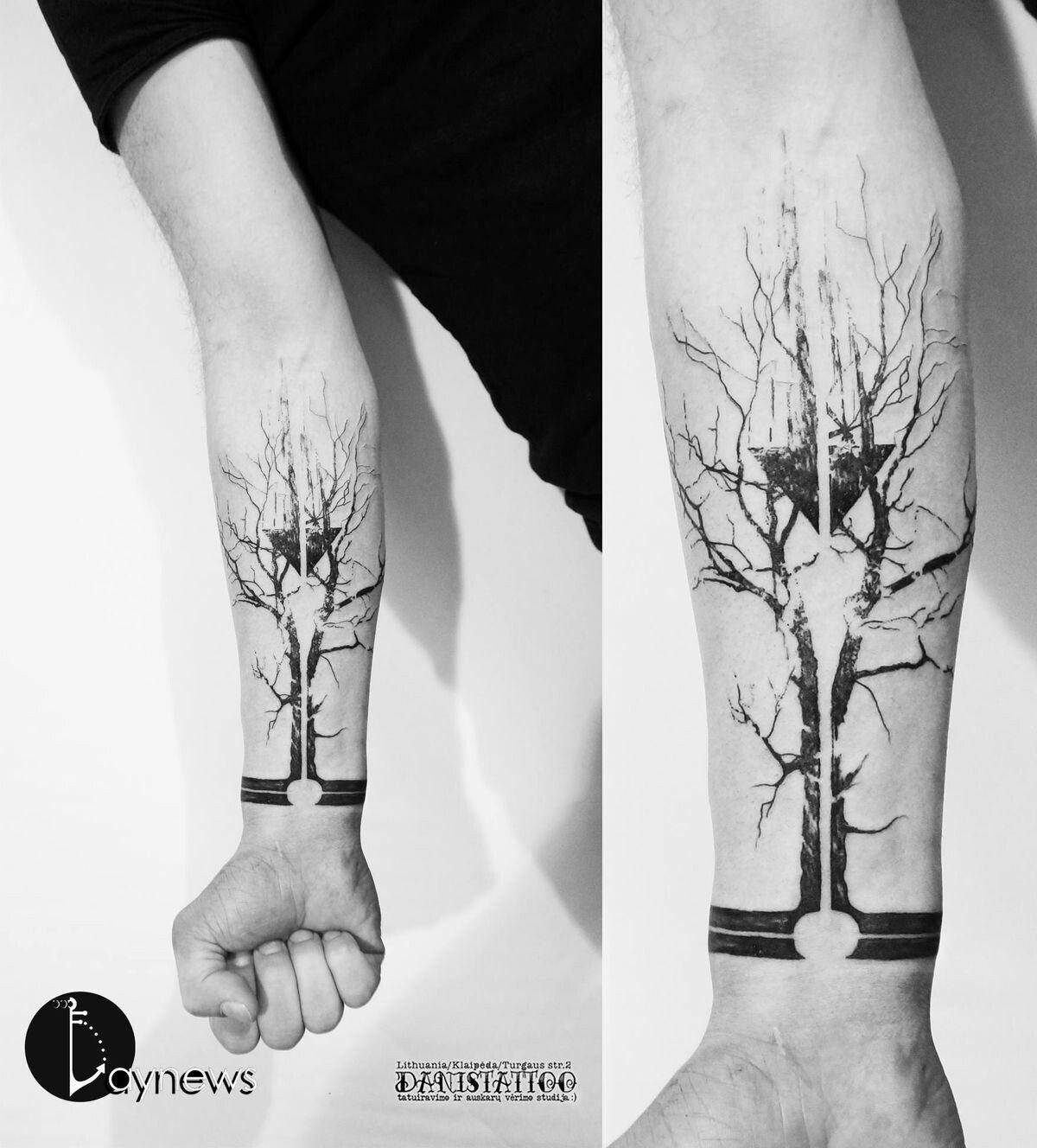 Samoantattoos Samoan Tattoos Forearm Arm Tattoo Electronic Circuit Board Full Sleeve Blackwork Male Forest Nature New Cool Arrow
