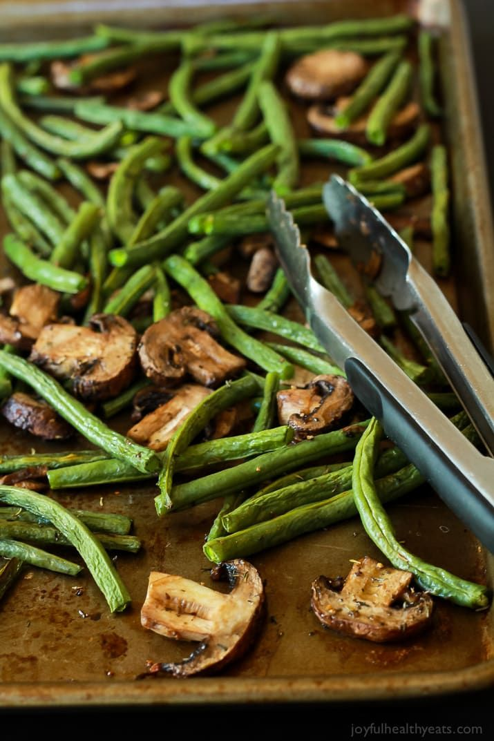 Roasted Green Beans & Mushrooms images