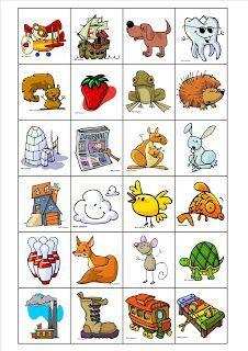 Je commence par est un jeu de bingo pour travailler la phonologie il faut imprimer les - Mot commencant par pr ...