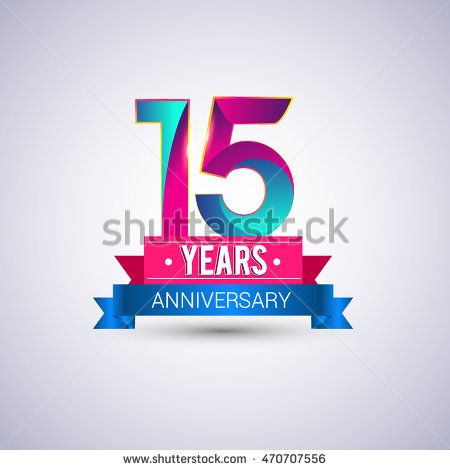 years anniversary logo with balloon and colorful geometric background  birthday poster pinterest also rh za