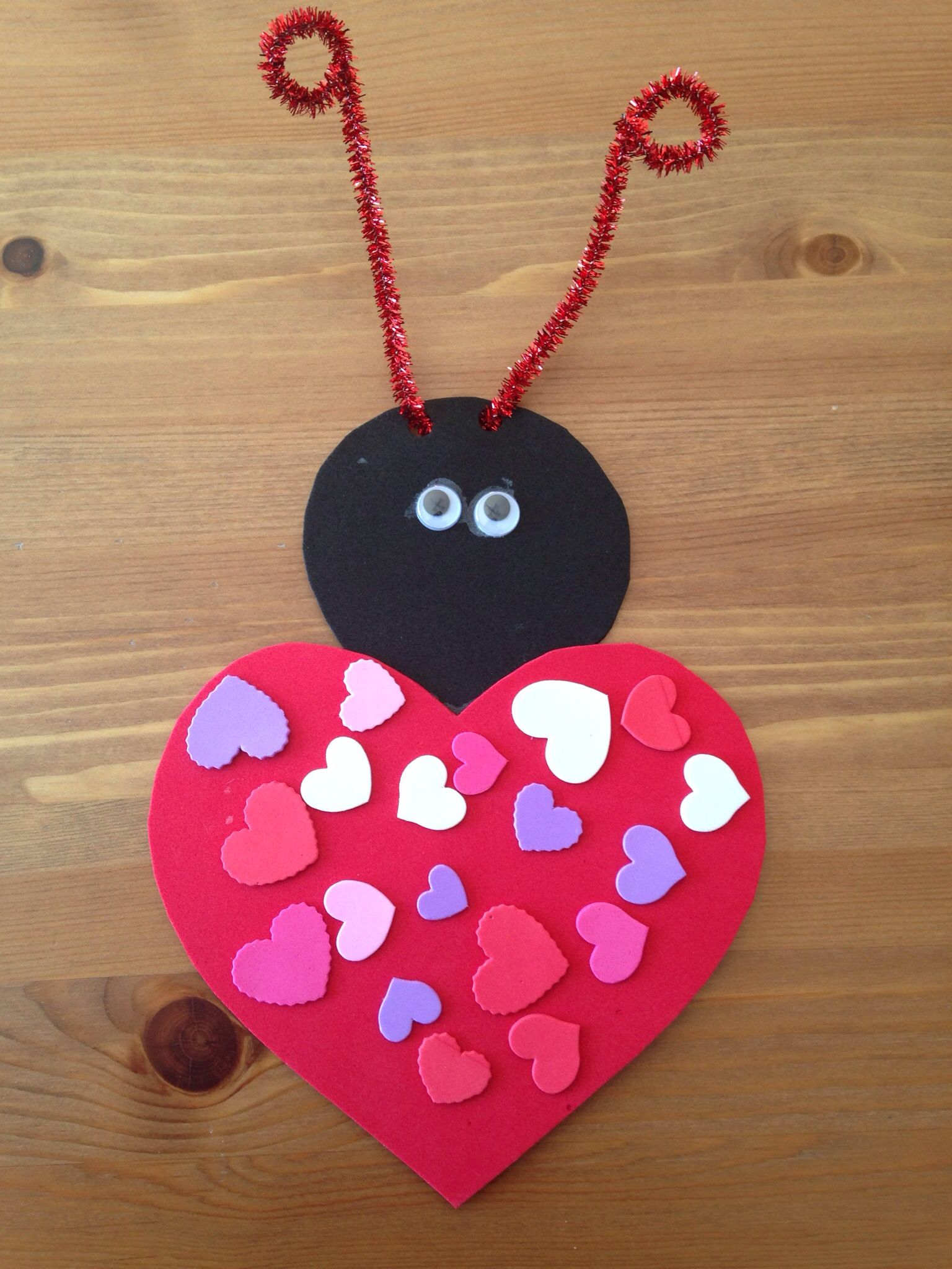 Valentine love bug craft - Love Bug Craft Preschool Craft