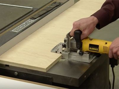 Making A Simple Biscuit Joiner Work Station Craftsman Table Saw