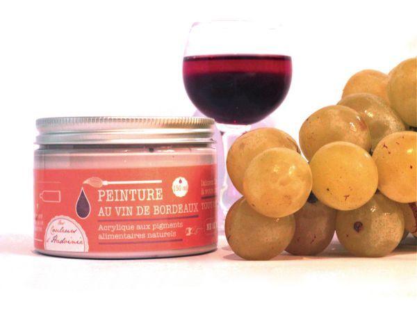 Peinture au vin de Bordeaux. Peintures parfumées #aliments #naturels #couleurs #peintures # ...