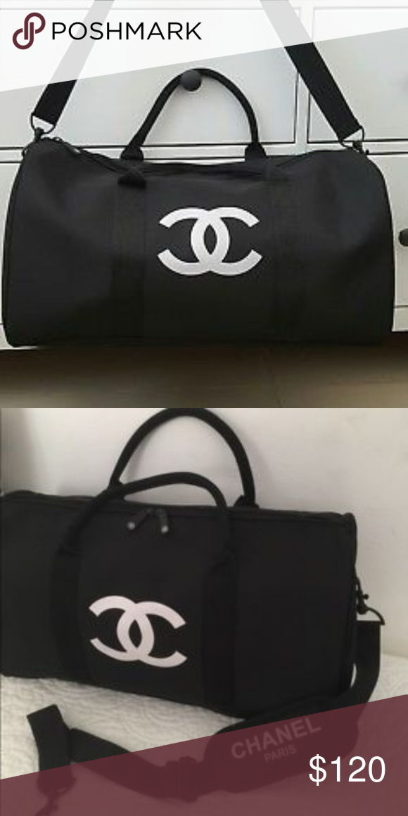 Chanel Vip Duffle Bag New Size L 48cm X 32 Cm Nylon Material Accessories Scarves Wraps
