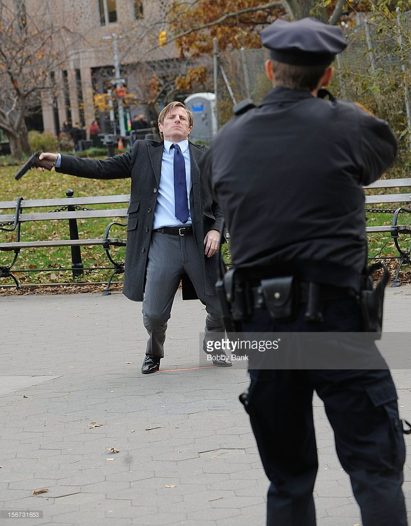 <a gi-track='captionPersonalityLinkClicked' href=/galleries/search?phrase=Will+Estes&family=editorial&specificpeople=225054 ng-click='$event.stopPropagation()'>Will Estes</a> filming on location for 'Blue Bloods' on November 19, 2012 in New York City.
