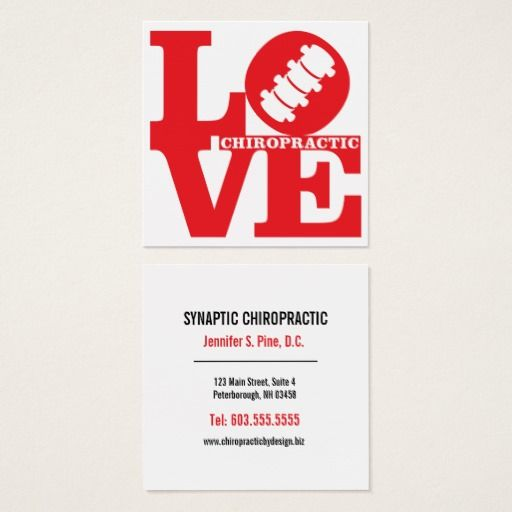 Love chiropractic square chiropractor square business card business cards colourmoves