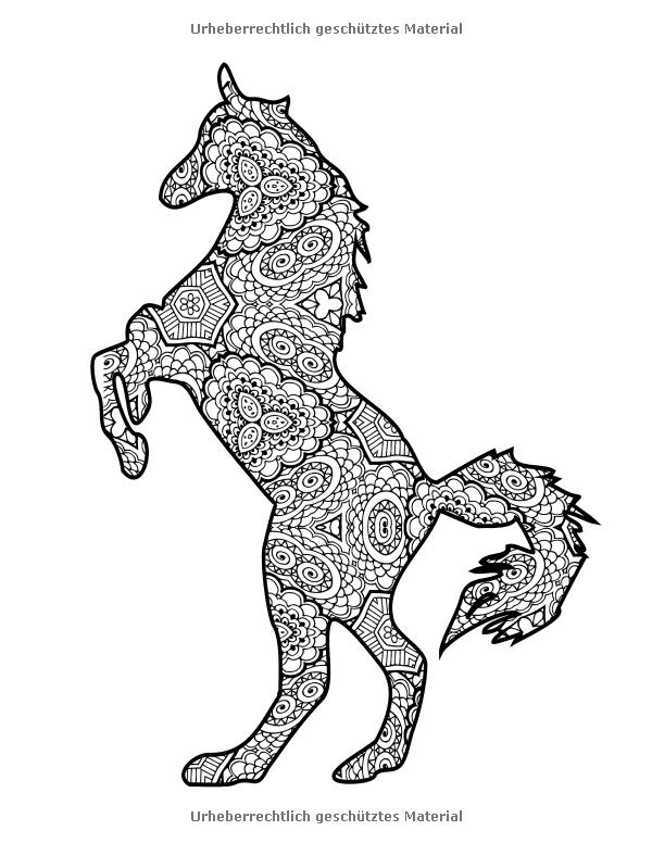 coloriage | coloriage chevaux | Pinterest | Malbücher, Malbuch ...
