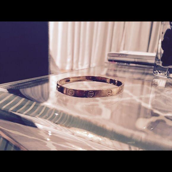Pink 14k Gold Cartoer Love Bracelet Elegant screw on bracelet