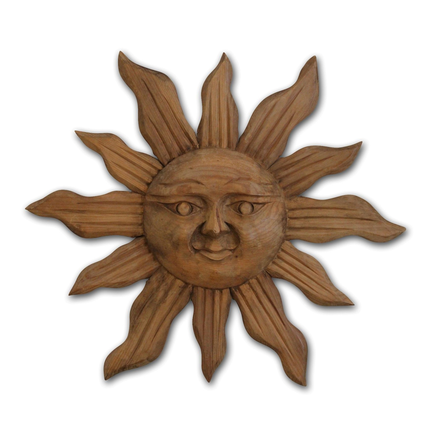 Handcarved Wood Sun Wall Art Suns Moons Stars