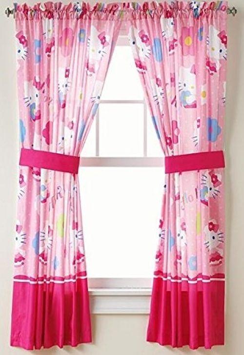Hello Kitty Window Panels Pink Curtains Toddler Kids S Bedroom Decor New Hellokitty