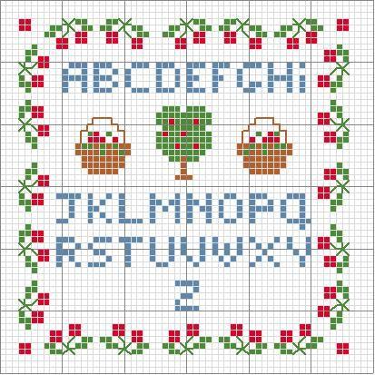Schema Punto Croce Alfabeto Piccolo Stuff I Want To Make