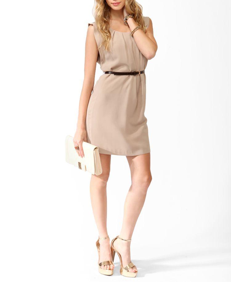 27.80 Pleated Dress w/ Belt   FOREVER21 - 2000034022