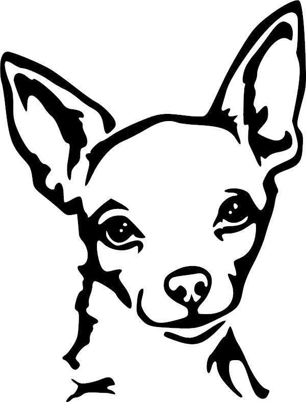 Chihuahua Decal Dog Stencil Chihuahua Art Dog Drawing