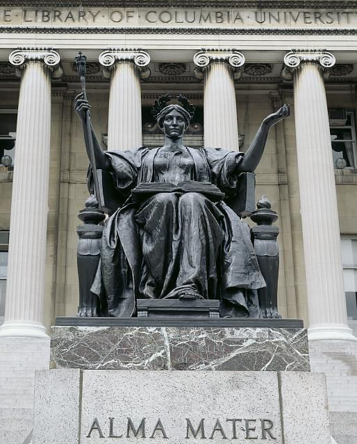 Alma Mater Statue By Daniel Chester French At Columbia