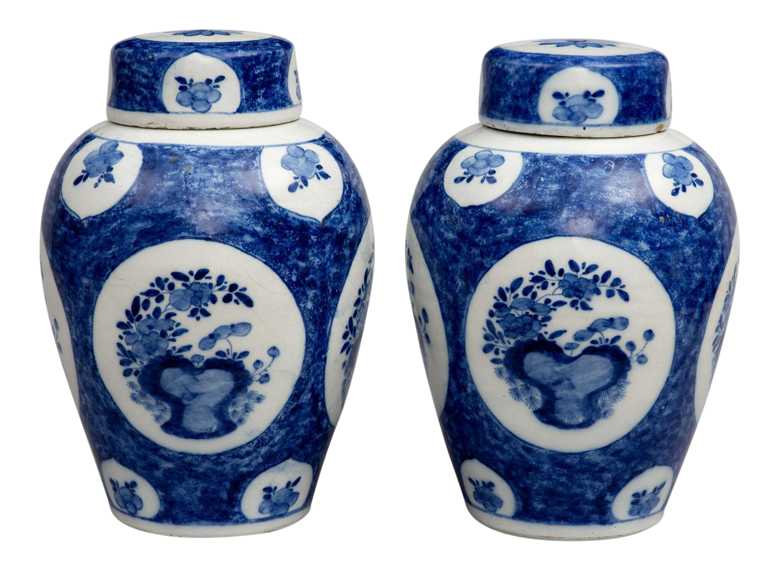 Pair dutch delft blue and white vases and lids18th century on pair dutch delft blue and white vases and lids18th century on decaso reviewsmspy