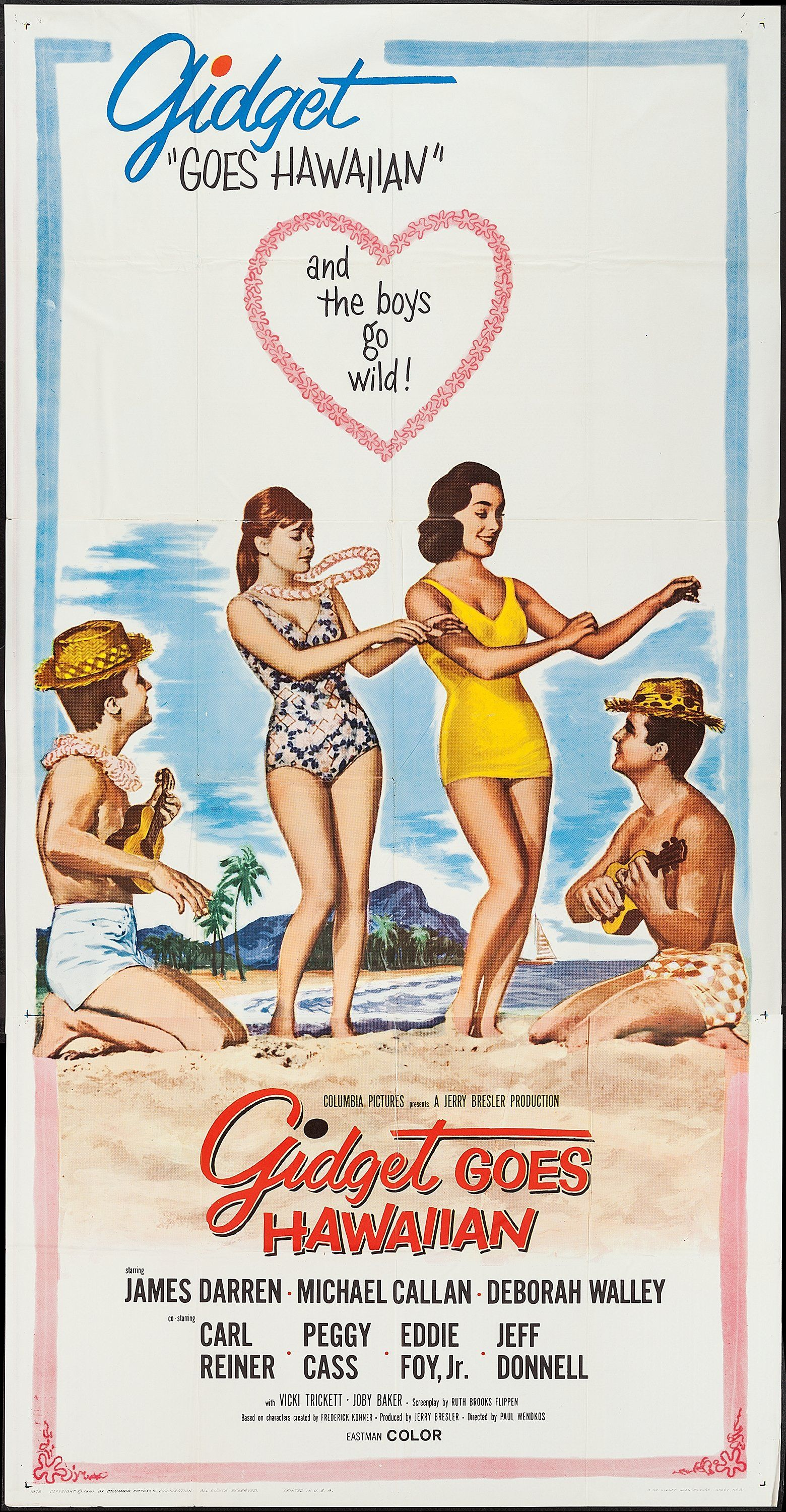 Gidget Goes Hawaiian (1961) Stars: James Darren, Michael ...