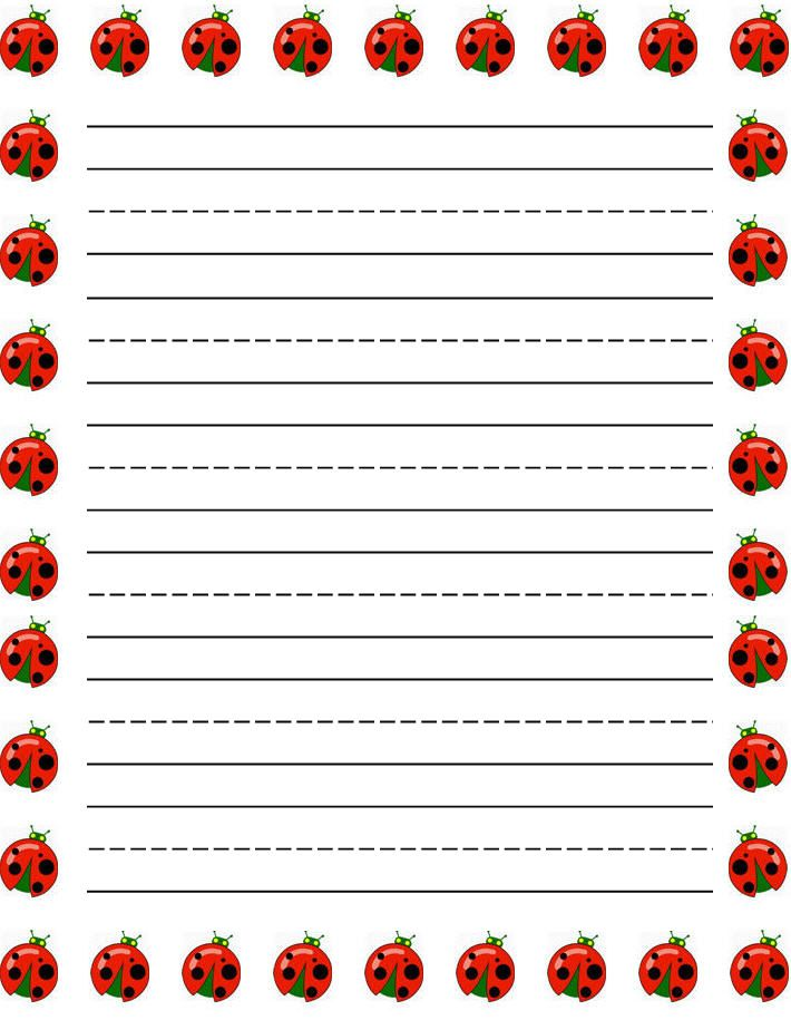 girl dogs Free printable kids stationery free printable writing – Free Printable Writing Paper