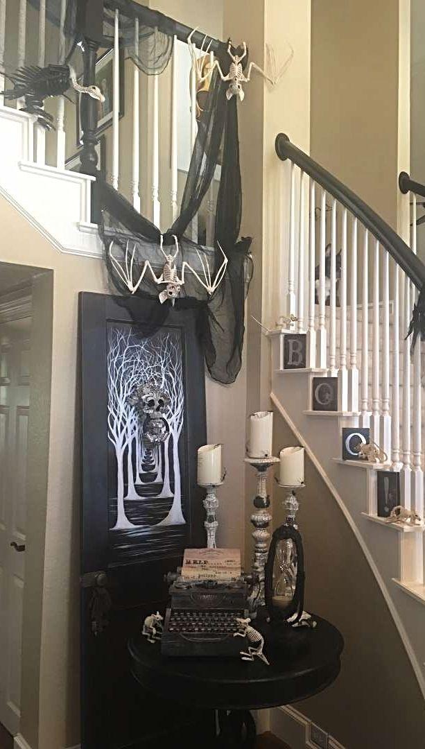 Photo Credit Karen Dosser Grandin Road Spooky Decor Challenge 2016 Halloween Decorations Indoor Halloween Home Decor Halloween Porch