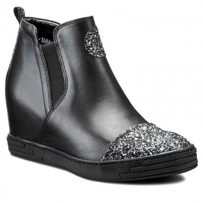Sneakersy Karino 1684 076 P Czarny Boots Chelsea Boots Shoes