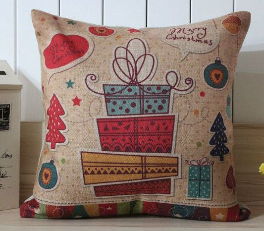 Cotton Linen Birthday Gift Pillow Case Housewarming by DailyPillow, $16.00