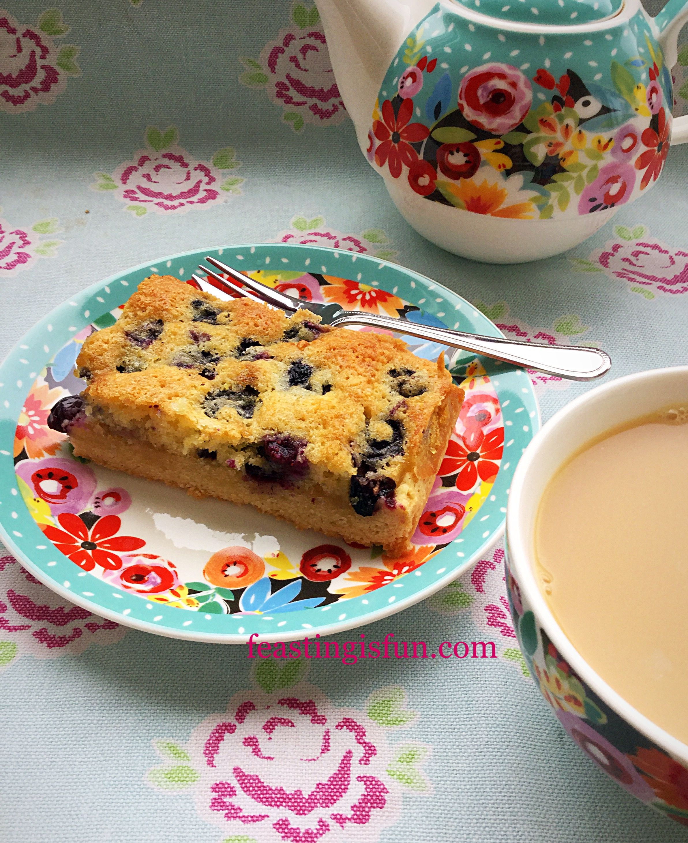 Blueberry lemon shortbread cake bars sweet savory