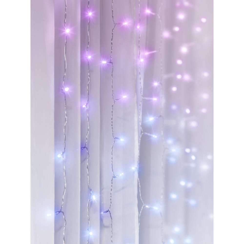 Merkury Innovations 96-Light 4 Ft. Multi-Color LED Curtain