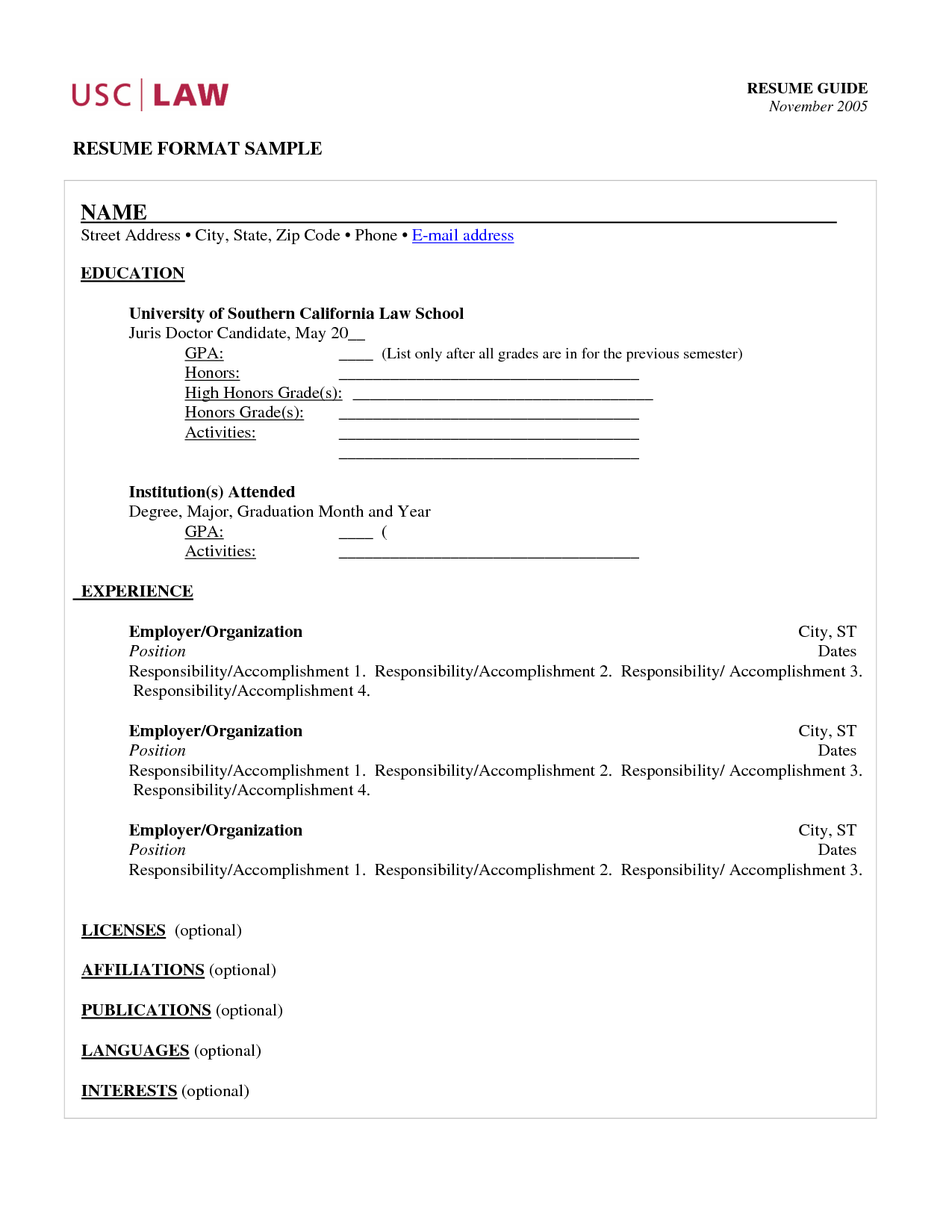 how to write a legal resume how to write biodata for student