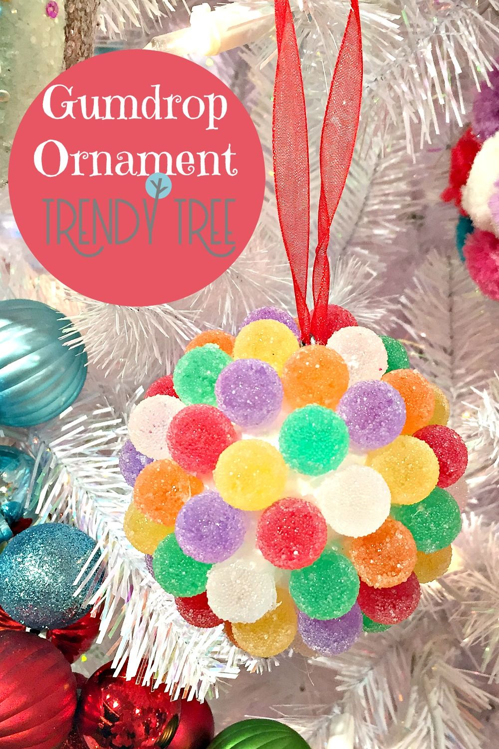 How cute is this! A gumdrop ornament that you don't have to make))) Looks so real, but made of ...