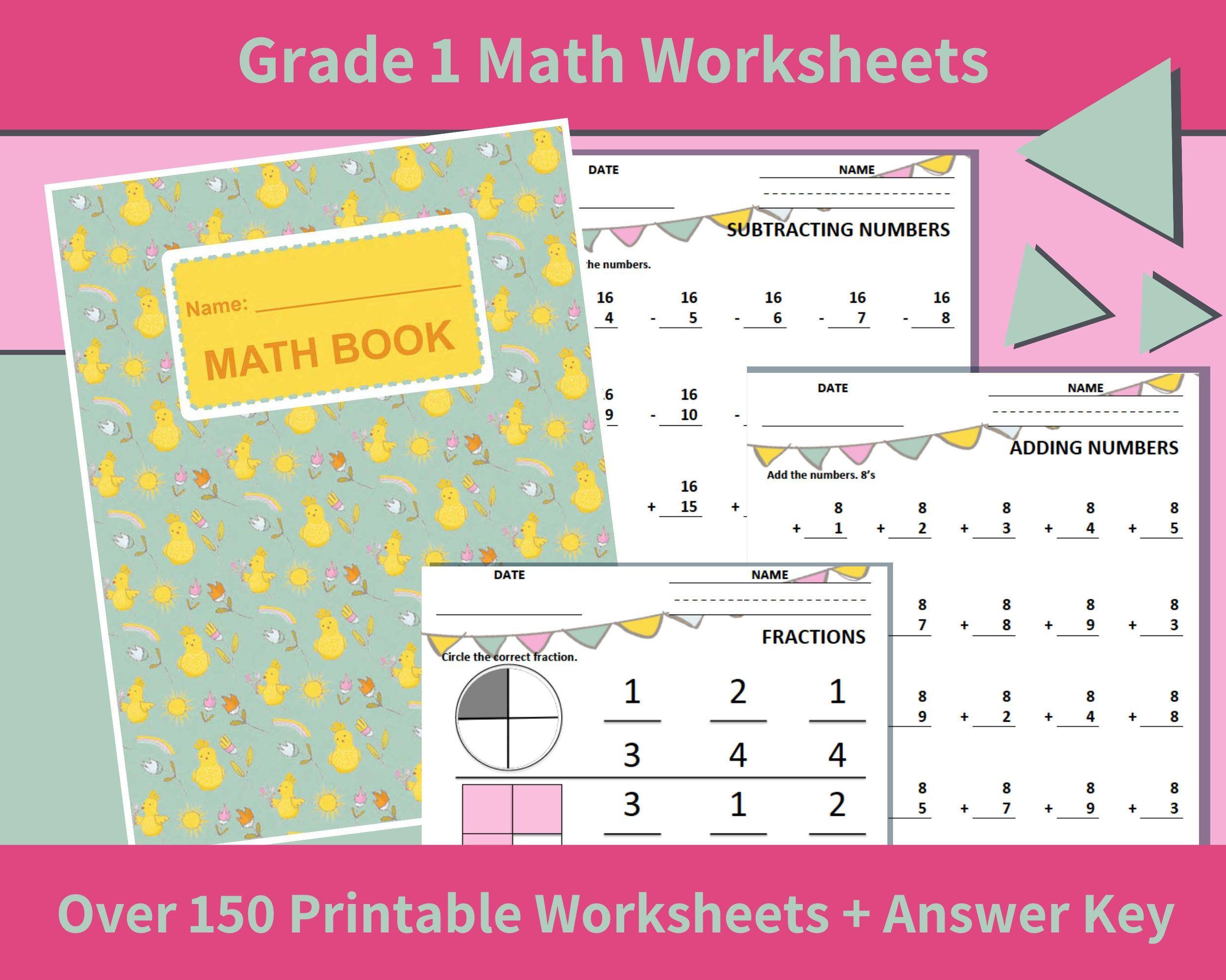 Math Printables First Grade Grade 1 Math Worksheets First