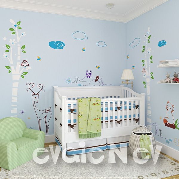 Fun removable Wall Art Decals for nursery handmade using Top-Quality Matte Vinyl. Can bring a vibrant energy and add your personal touch into your room - 13 ELEMENTS INCLUDED plus free test decal.