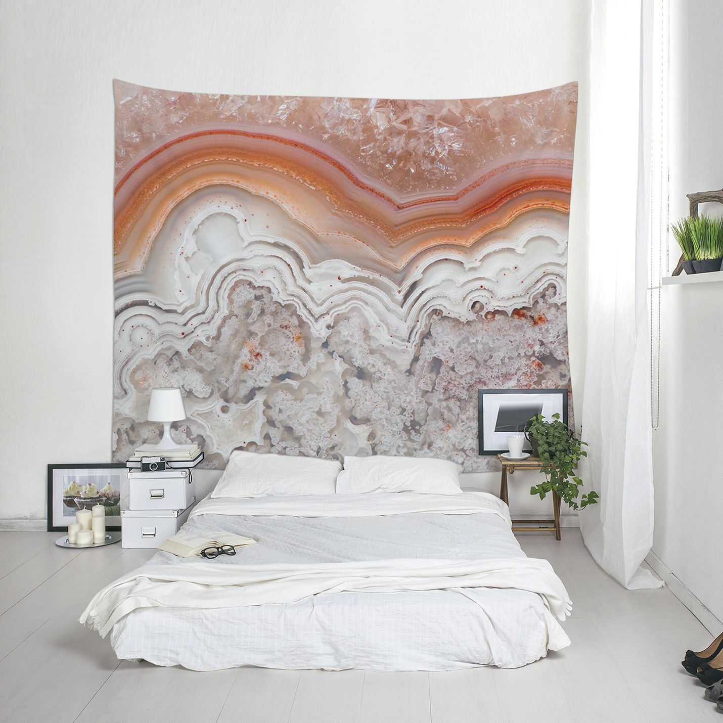 Agate Tapestry Abstract Tapestries Minimalist Wall Art