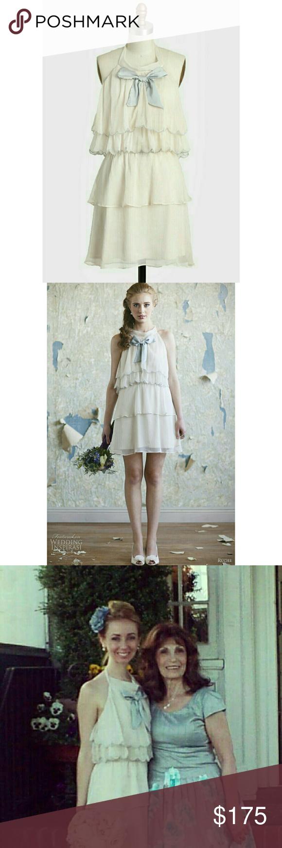 Cream colored vintage wedding dresses  Ruche gemma lyn vintage wedding dress  Baby blue wedding dresses