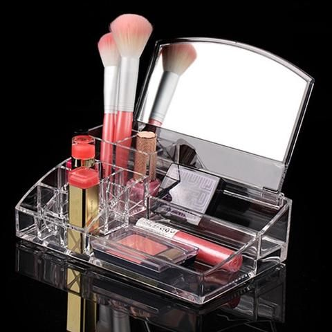Womens Acrylic Makeup Cosmetics Clear Holder Multifunctional