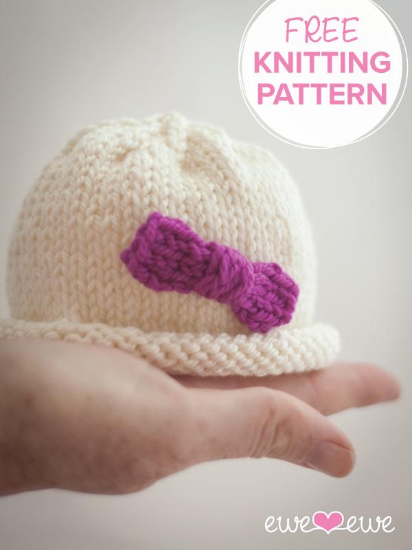Hello Preemie Free Baby Hat Knitting Pattern   Bébé   Pinterest ...
