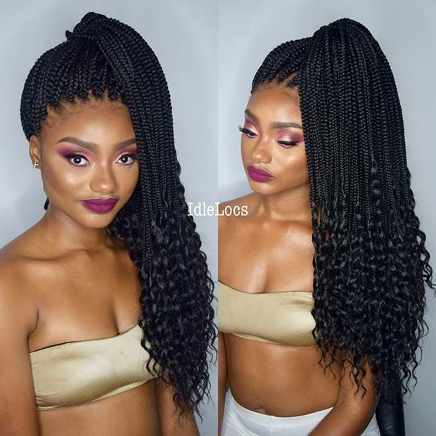 23 Best Long Box Braids Hairstyles and Ideas #longboxbraids
