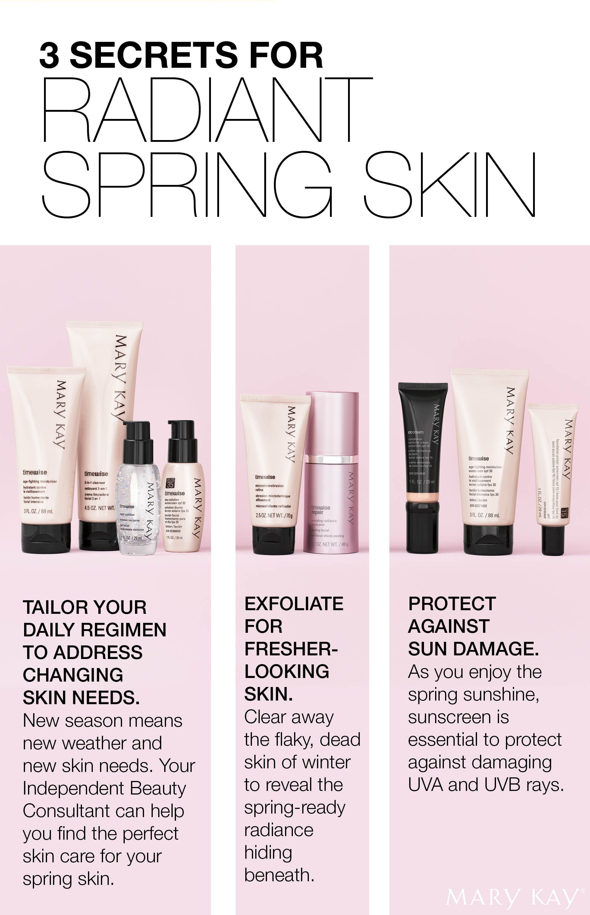 Customize, Exfoliate And Protect! Reveal Radiant Skin This Spring  Mary  Kay