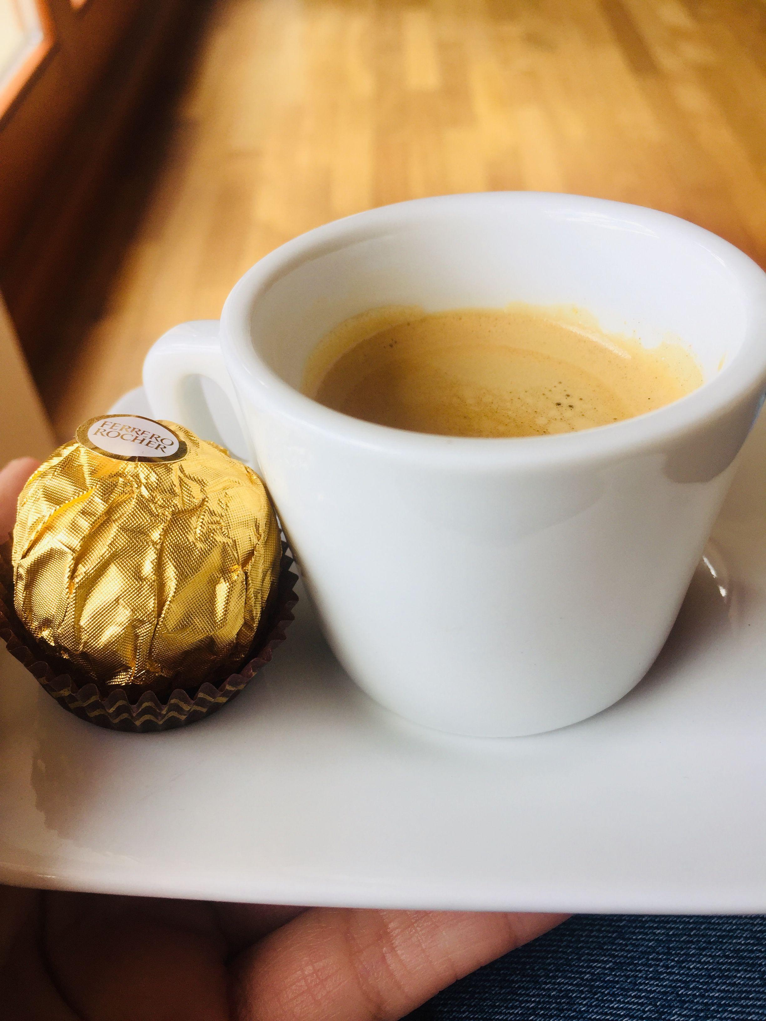 Coffee Espresso Ferrerorocher Relaxation Tableware Espresso Ferrero Rocher