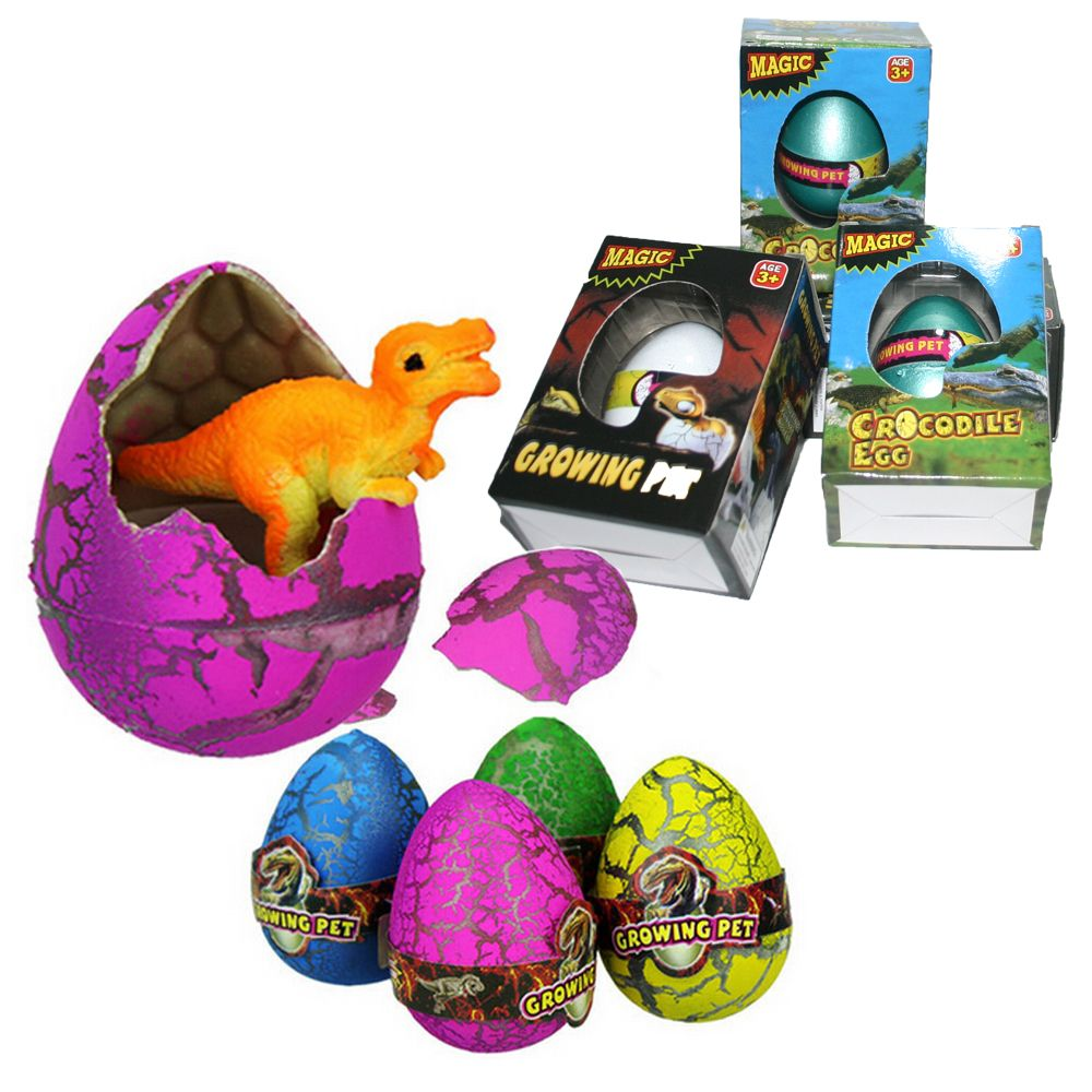 4 stcke mit box ostern eier neuheit magie wasser wachsende ei with box easter eggs novelty magic water growing egg dinosaur cracks hatching eggs cute kids toys halloween gift negle Images