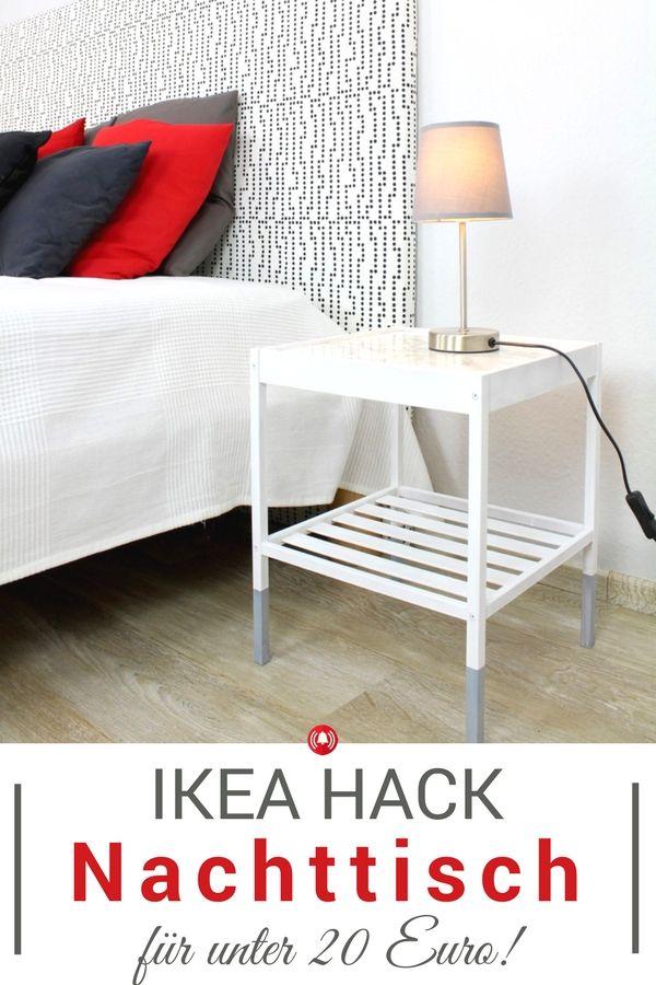 ikea hack nachttisch f r unter 20 euro selber machen. Black Bedroom Furniture Sets. Home Design Ideas
