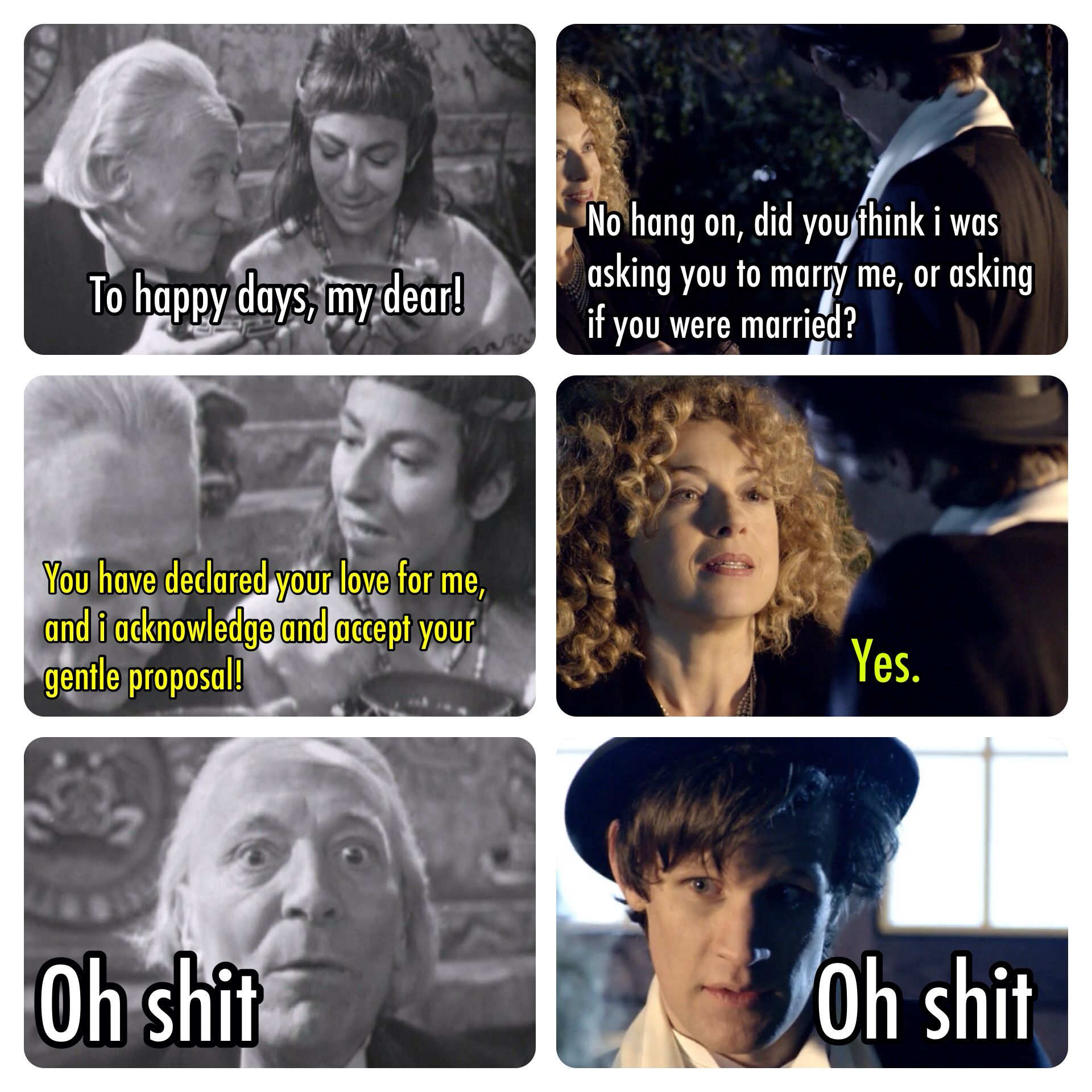 218a0ab2cf040 The doctor  accidentally proposing to people since day one   These ...