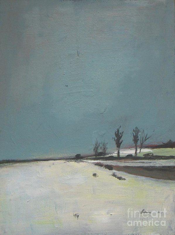 Ray Hendershot Breaking Light Country Farm Winter Landscape Print Poster 26x26