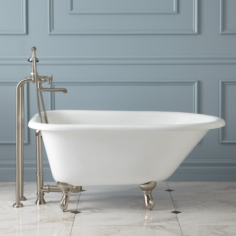 48 Cambria Cast Iron Roll Top Clawfoot Tub Bathroom Goals