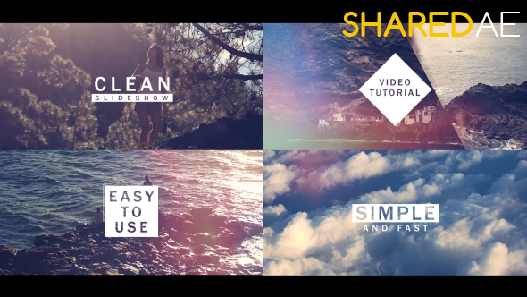 Videohive Fast And Clean Slideshow Free Download - Purchase after effects templates