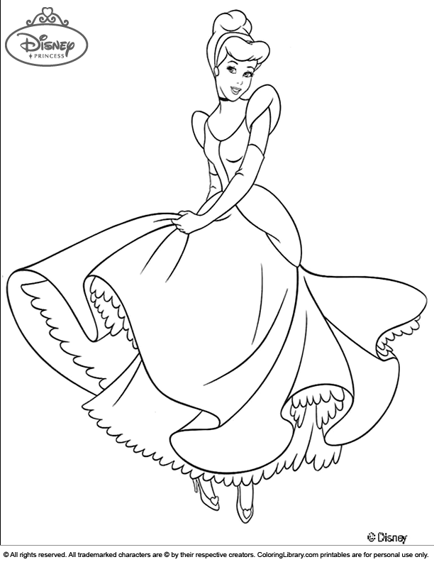 Disney Princess Cinderella Color Sheet Cinderella Coloring Pages Disney Princess Colors Princess Coloring Pages