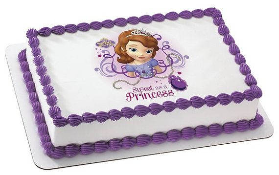 Sofia The First Personalized Edible Cake Image   Edible ...