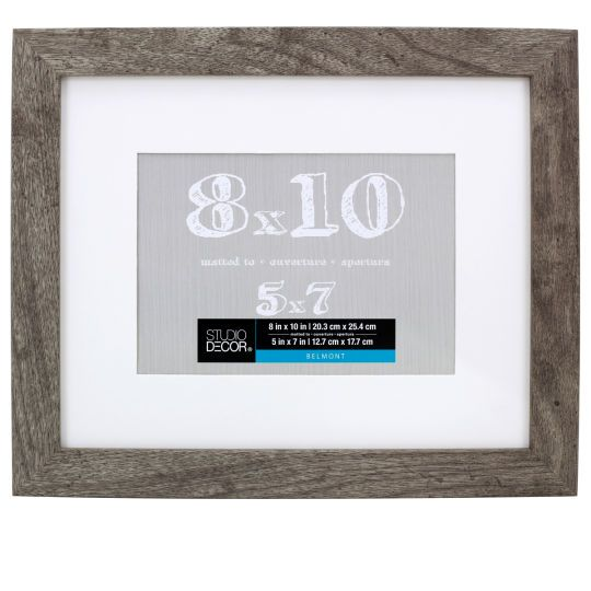 Gray Belmont Frame With Mat By Studio Decor Studio Decor Decor Frame